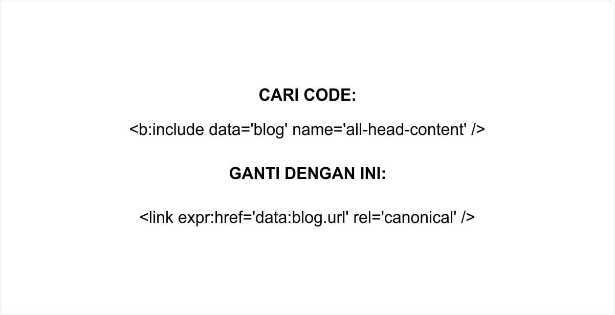 Cara Setting Rel Canonical di Blogger